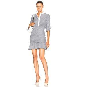 Veronica Beard Everett Striped Poplin Shirt Dress